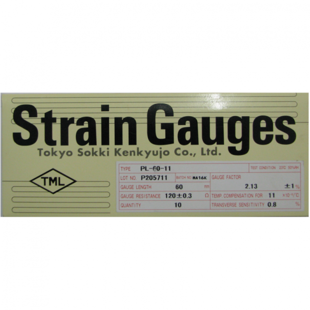 Strain gauge 120 Ohm, 60mm, PL-60-11
